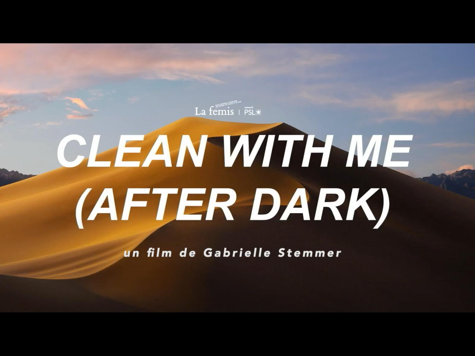 """Affiche """"clean with me"""""""